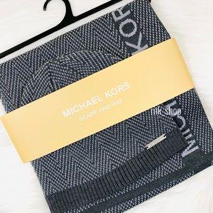 Michael Kors Scarf & Hat Set - Grey